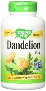 Dente de Leão (Dandelion Root), Nature's Way, 525 mg, 180 Veggie Caps