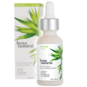 Serum Facial Anti-Idade & Clareamento da Pele com Vitamina C  with Retinol + Salicylic Acid, Insta Natural,1 fl oz (30 ml)