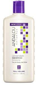 Shampoo, volume completo, para elevação, corpo e brilho, lavanda e biotina, Andalou Naturals, 11.5 fl oz (340 ml)