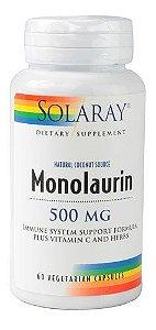 Monolaurina, Solaray, 500 mg - 60 Capsulas