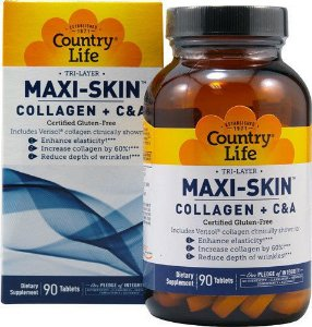 Collageno Plus C&A, Maxi-Skin Tri Layer, Country Life, 90 Tablets