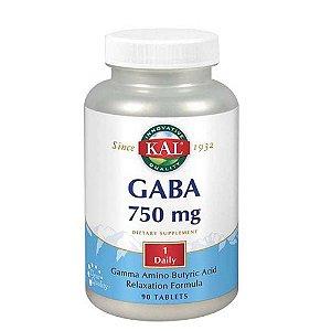 GABA, Kal, 750 mg, 90 Tabletes