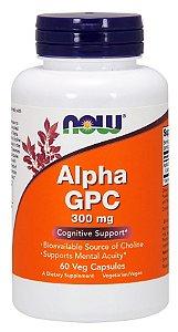 Alpha GPC, Now Foods, 300 mg, 60 Veg Capsulas