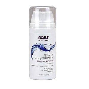 Creme de Progesterona Natural para a Pele, Sem Cheiro, Now Foods - 85g