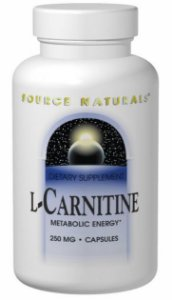 L-Carnitina, Source Naturals, 250 mg, 120 Capsules