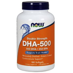 DHA-500, 500 DHA / 250 EPA, Now Foods, 180 Softgels