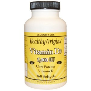 Vitamina D3, Healthy Origins, 5.000 IU, 360 Softgels