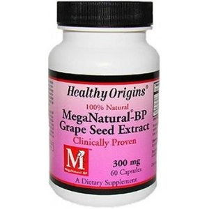 Extrato de Semente de Uva, MegaNatural-BP, Healthy Origins, 300 mg, 60 Capsules