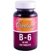 Vitamina B-6 (Piridoxina), Labs Carlson, 50 mg, 250 tabletes