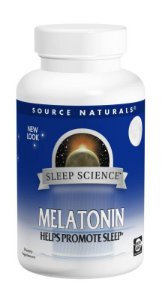 Melatonina Sublingual Sabor Laranja, Source Naturals, 5 mg, 200 Tablets