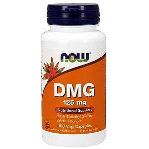 DMG (Ácido pangâmico, Vitamina B15, Dimetilglicina), Now Foods, 125 mg, 100 cápsulas