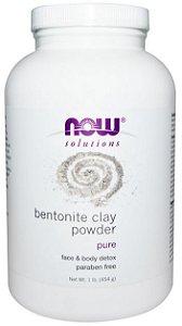 Bentonite em Pó, 100% Puro Clay, Now Foods, 454 g