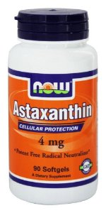 Astaxantina, Now Foods,4 mg, 90 Veggie Softgels