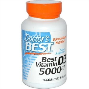 Vitamina D3, 5.000 IU, Doctor's Best, 360 Softgel Caps