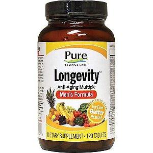 Fórmula da Longevidade para Homens, Anti-Aging, Pure Essence, 120 comprimidos