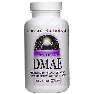 DMAE, Source Naturals, 351 mg, 200 Capsulas