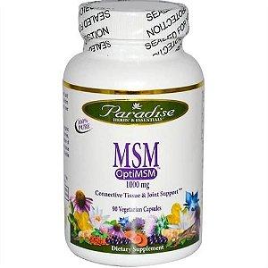 MSM, OptiMSM, Paradise Herbs, 1.000 mg, 90 Veggie Caps