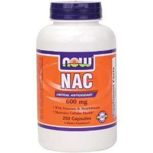 NAC (N-Acetilcisteína), Now Foods, 600 mg, 250 Vcaps