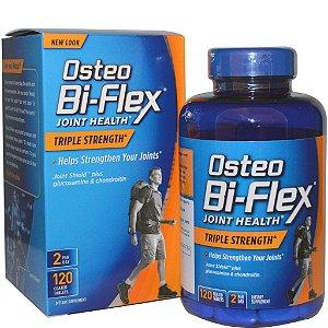 Osteo Bi-Flex, Glucosamina+Condroitina+MSM+5 Loxin, Tripla Força, 120 Coated Caplets