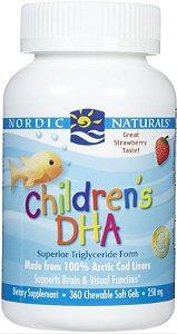 DHA Infantil, Sabor Morango, Nordic Naturals, 360 cápsulas mastigáveis