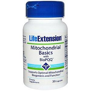 Basics Mitocondrial com Bio PQQ, Life Extension, 30 Cápsulas