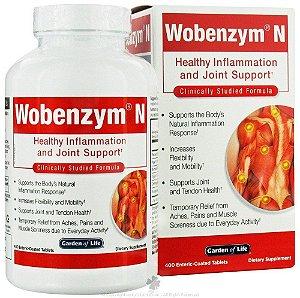 Wobenzym, Inflamação Saudável e de Apoio Conjunto, Mucos Pharma, 400 Comprimidos com Revestimento Entérico