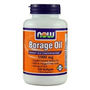 Óleo de Borragem, Now Foods, 1000 mg, 120 Softgels