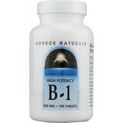 Vitamina B1 de Alta Potência, Source Naturals, 500 mg 100 Tablets
