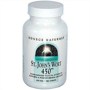 Erva de São João, Source Naturals, 450 mg, 180 Tablets