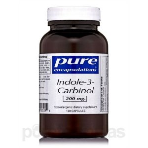 Indole-3-Carbinol, Pure Encapsulations, 200 mg, 120caps