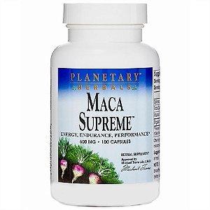 Maca Supreme, Planetary Herbals, 600 mg, 100 Capsules