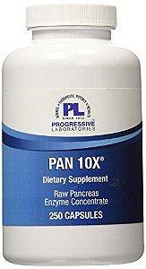 Pan 10X, Enzimas Pancreáticas 10x, Progressive Labs, 250 Capsules
