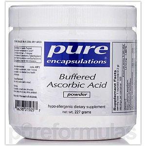 Ácido Ascórbico Tamponado(Buffered) em Pó, Pure Encapsulations, 227 gramas
