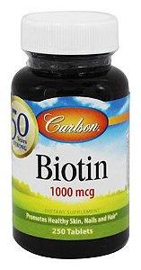 Biotina, Carlson Labs, 1.000 mcg, 250 Tablets