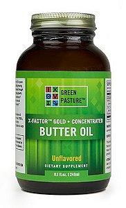 Manteiga X-FACTOR Butter Oil - Gold High Vitamin Butter Oil, Green Pasture, Sem Sabor, 240ml