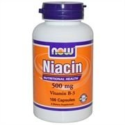 Niacina, Now Foods, 500 mg, 100 Capsules