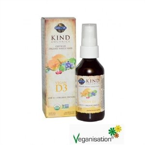 Vitamina D3 Vegana em Spray, Mykind Organics, 59ml