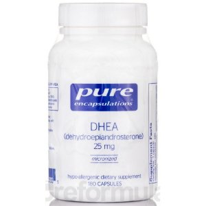 DHEA 25 mg, Pure Encapsulations, 180 Capsulas