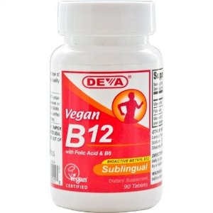 B12 Vegana Sublingual, Deva, 1.000mcg, 90 Tablets