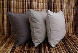 Almofada de Sarja Conjunto Triplo Tons de Cinza