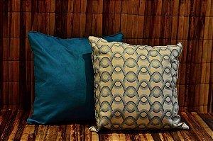 Conjunto de Almofadas em Suede Azul