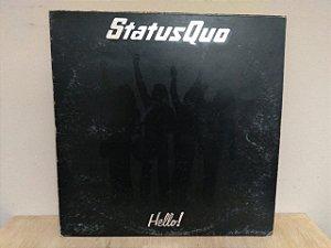 Lp Status Quo Hello Imp Inglês Com Pôster 1973