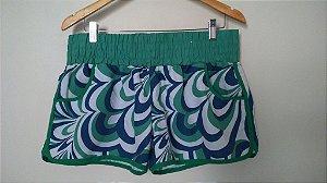Shorts Tactel Estampado Feminino