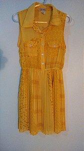 Vestido  Casual Amarelo