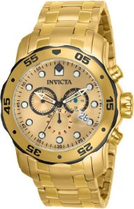 Relógio Invicta Masculino Pro Diver Dourado Modelo 80070