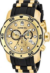 Relógio Invicta Masculino Pro Diver Dourado Modelo 17885