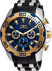 Relógio Invicta Masculino Lançamento Pro Diver Fundo Azul 22339