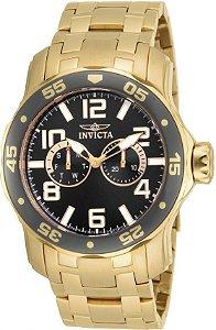 Relógio Invicta Pro Diver Lançamento Dourado e Fundo Cinza Modelo 17499