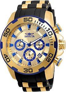 Relógio Invicta Masculino Lançamento Pro Diver Dourado 22308