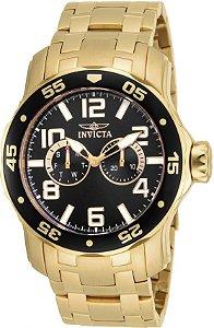 Relógio Invicta Pro Diver Lançamento Dourado e Fundo Preto Modelo 17497